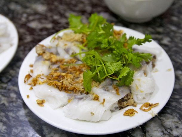 Bánh cuốn translated literally as water fern cake. remembering eating this dish brought a tear to my eye.