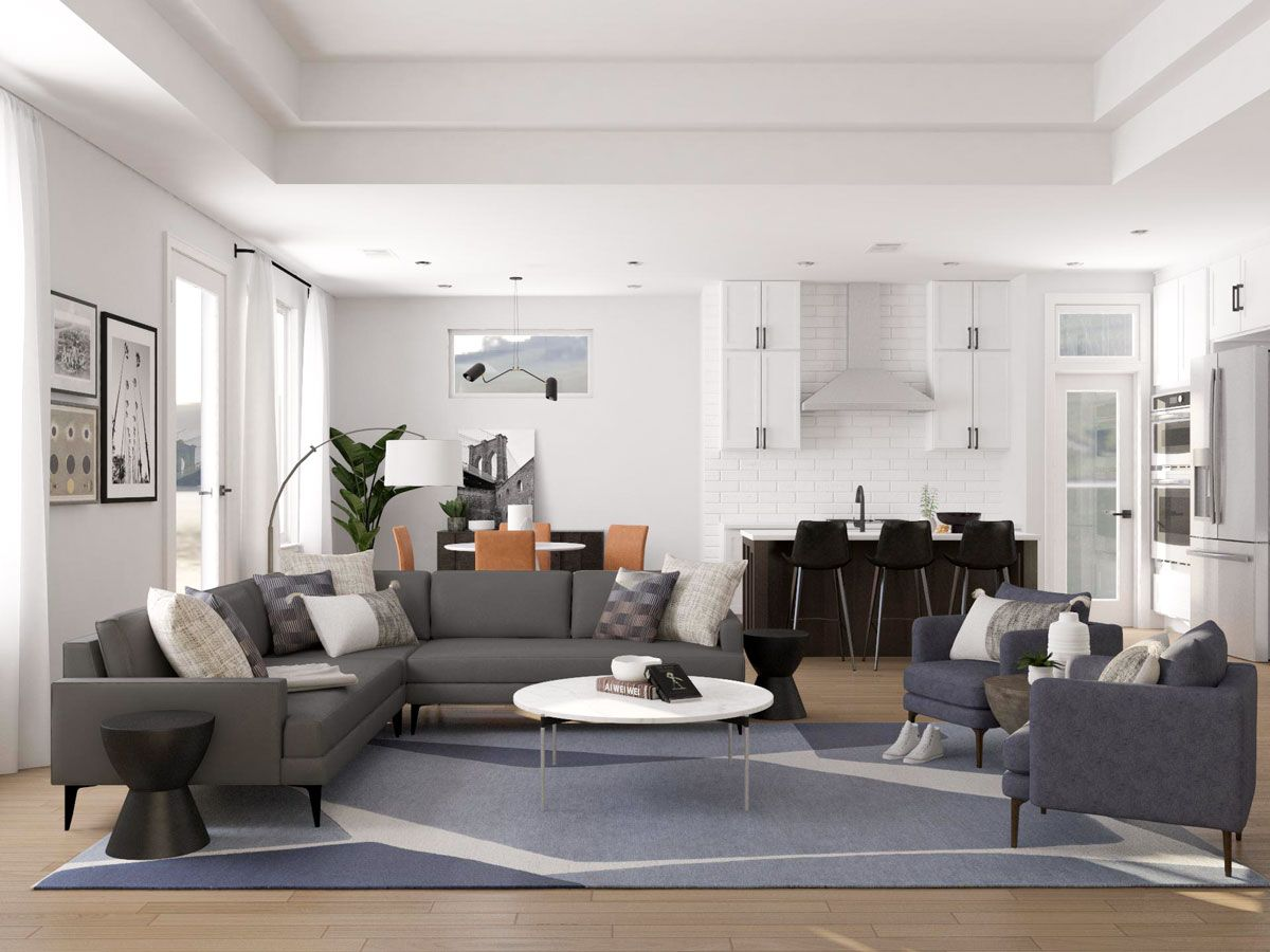 Layout Ideas For An Open Living Dining Room In 2020 Open Living Room Design Living Dining Room Contemporary Living Room Design