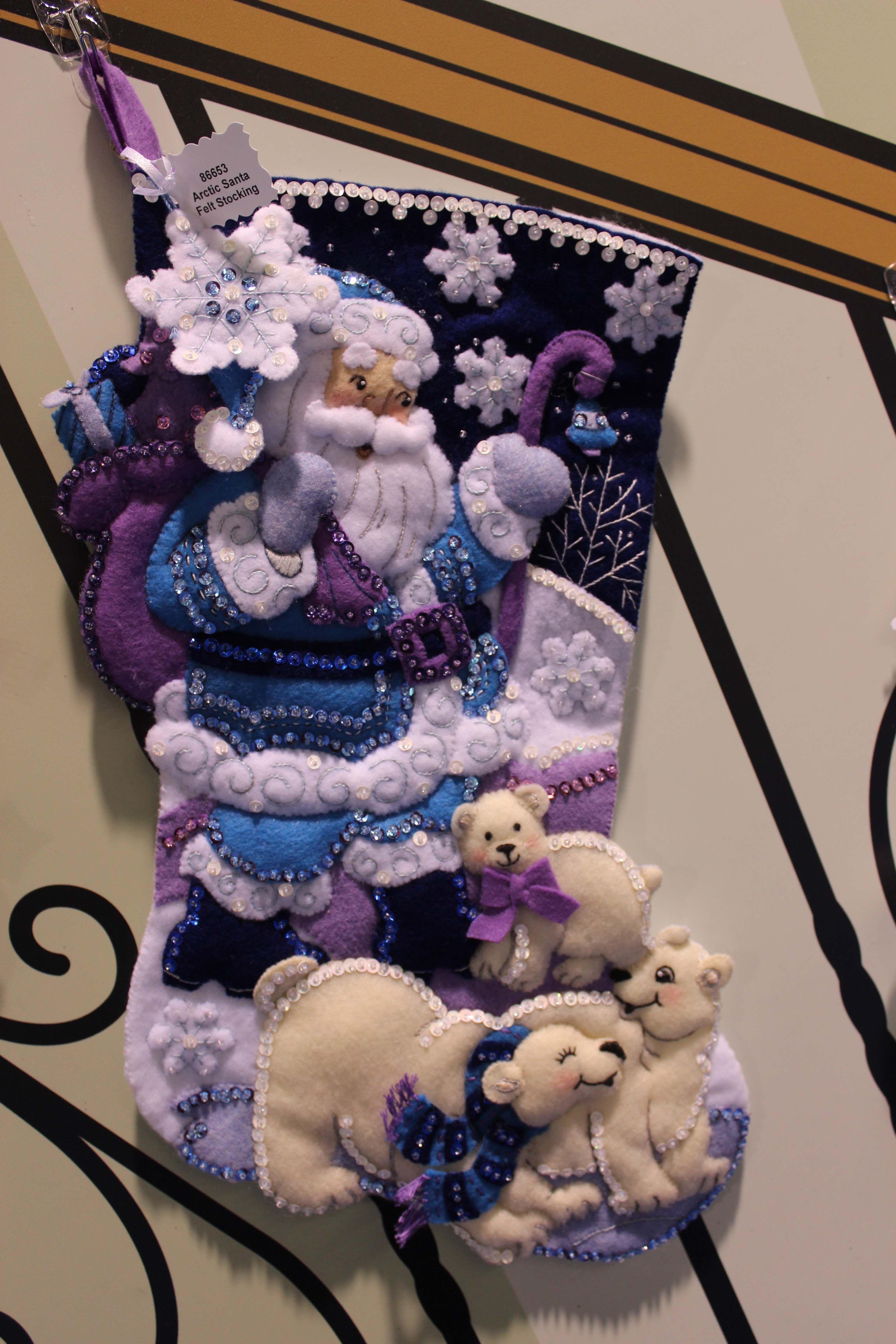 DIY handmade Christmas stocking kit by Bucilla Christmas