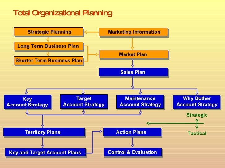 total organizational planning sales plan target account strategy key