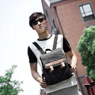 Black UNISEX's Canvas Backpack,Laptop Backpack,Leisure Outdoor Backpack,Classic Backpack for School  Price:  $76.77          Color: Black      Gender: UNISEX (Women Men)      Material: Canvas/PU      Method: Front Flap      End Use: Classic,Lifestyle,Travel,Leisure,Outdoor      Size: Medium      Use: Backpacks,Shoulder      Interior Structure: Laptop Compartment,Cellphone Pocket,Passport Pocket      Dimension: 26.0*33.0*12.0 CM
