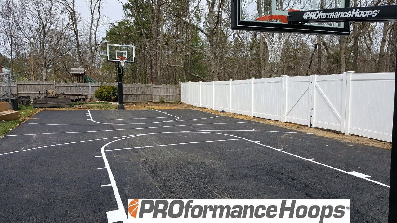 The Proformance Hoops Proview 554 Basketball Goals Look Great For This Full Court To See All The Goals We Offer And More Detail Basketball Goals Goals Hoops