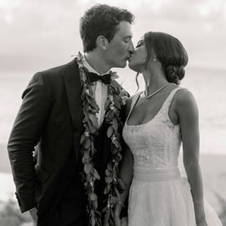 Photo of Keleigh Sperry Married Miles Teller in Maui Wearing 2 Spectacular Wedding Dresses — POPSUGAR