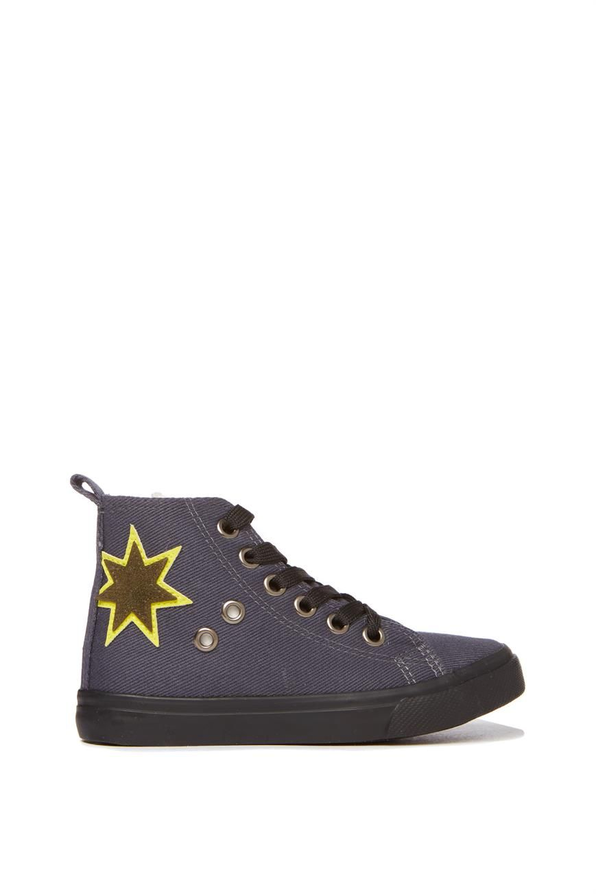 a71bf2561f09 Converse Youths Chuck Taylor All Star Easy Slip Velcro Hi - Storm Wind Thunder  Grey Safety Yellow