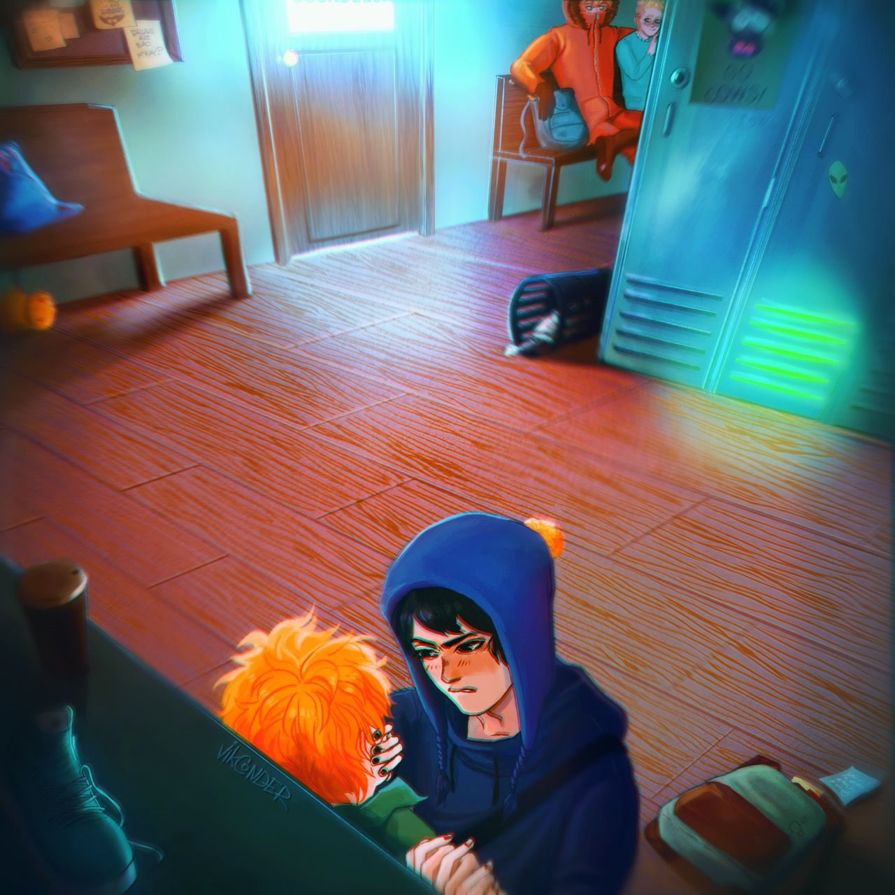 Craig x Tweek & Kenny x Butters ~ School days are the same