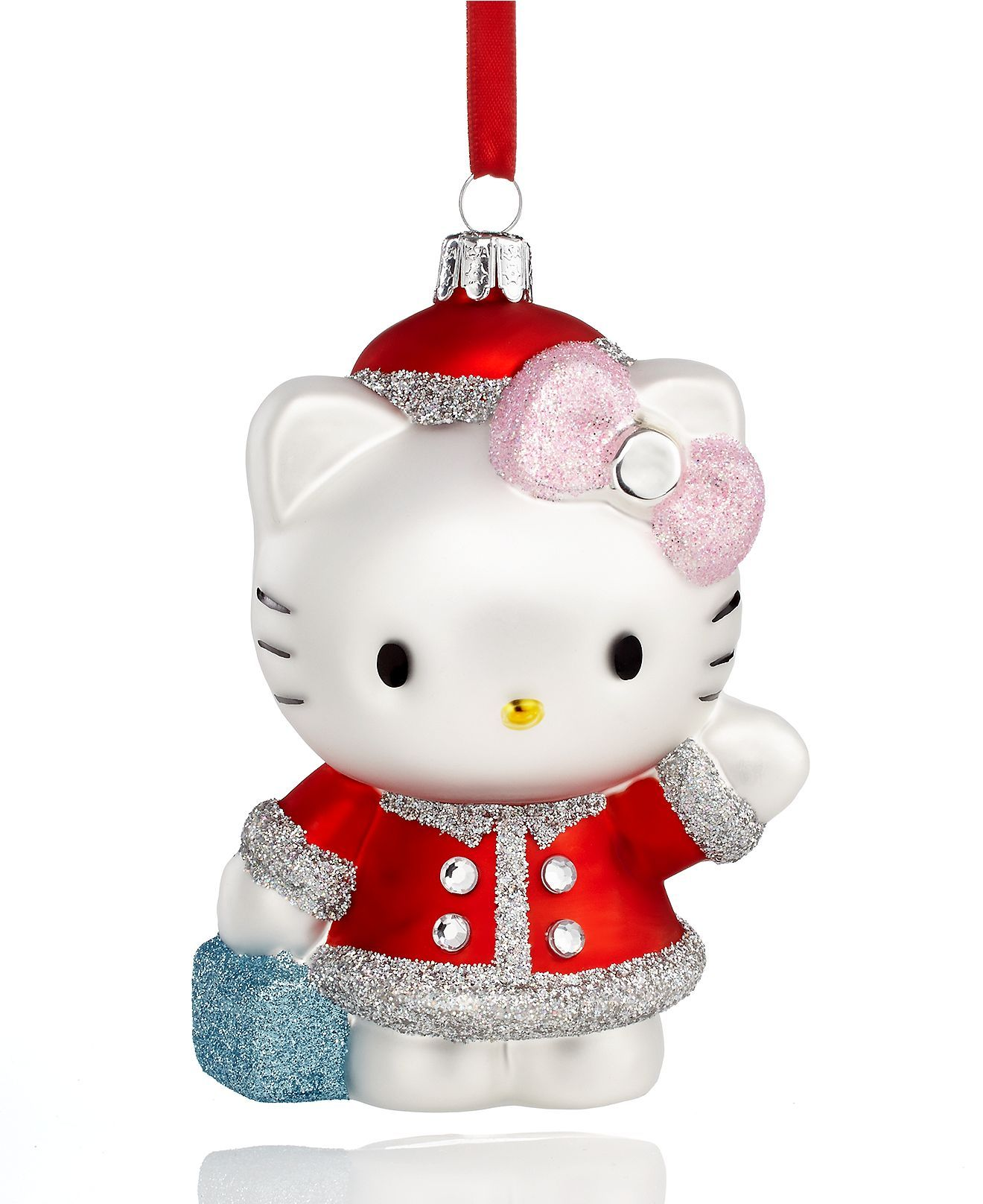 Kurt Adler Christmas Ornament Holiday Hello Kitty Holiday Lane