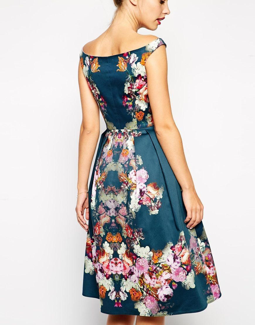 Winter Bardot Midi Bardot Vestido Asos Floral PetiteVintage At Dress SqLzVGjUpM