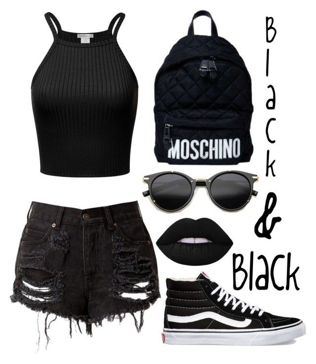 """✌💪"" by chica1622 ❤ liked on Polyvore featuring Moschino, Vans and ZeroUV"