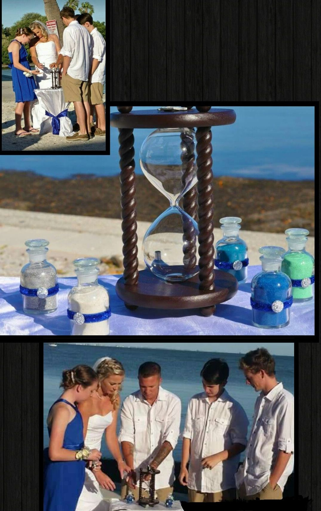 Heirloom Wedding Hourglass Family Unity Sand Ceremony At The Beach