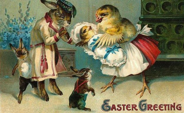 The odd world of Victorian Easter cards – Victorian Easter Cards