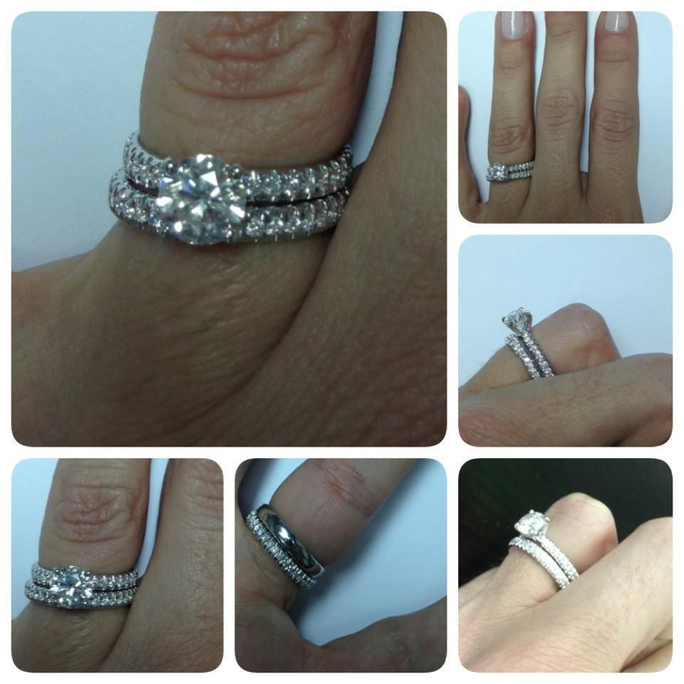 1.50 CT D/VS1 DIAMOND RING 14K White GOLD engagement and WEDDING BAND SET #SolitairewithAccents