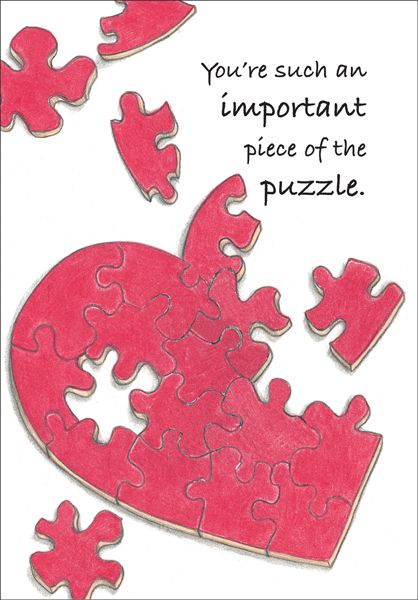 Te303v Piece Of The Puzzle Volunteer Thank You Cards With