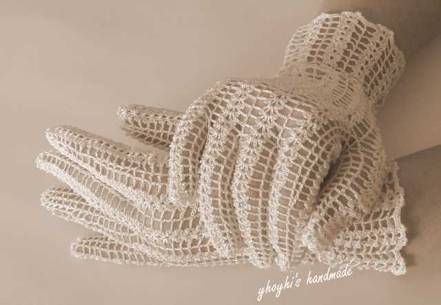 Guantes de ganchillo para novia. | c1 | Pinterest
