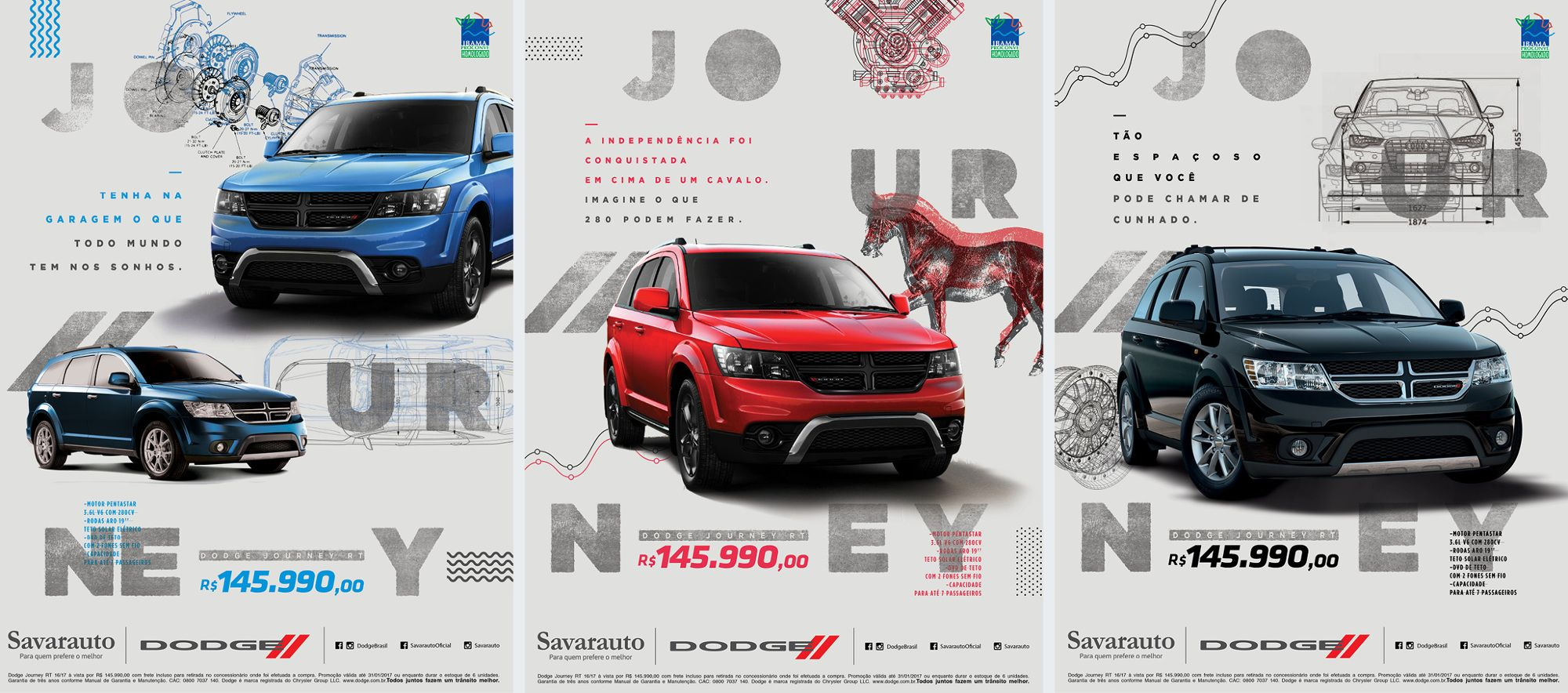 Júnior Silveira Redator Dodge Journey Graphic Design Art Car Advertising