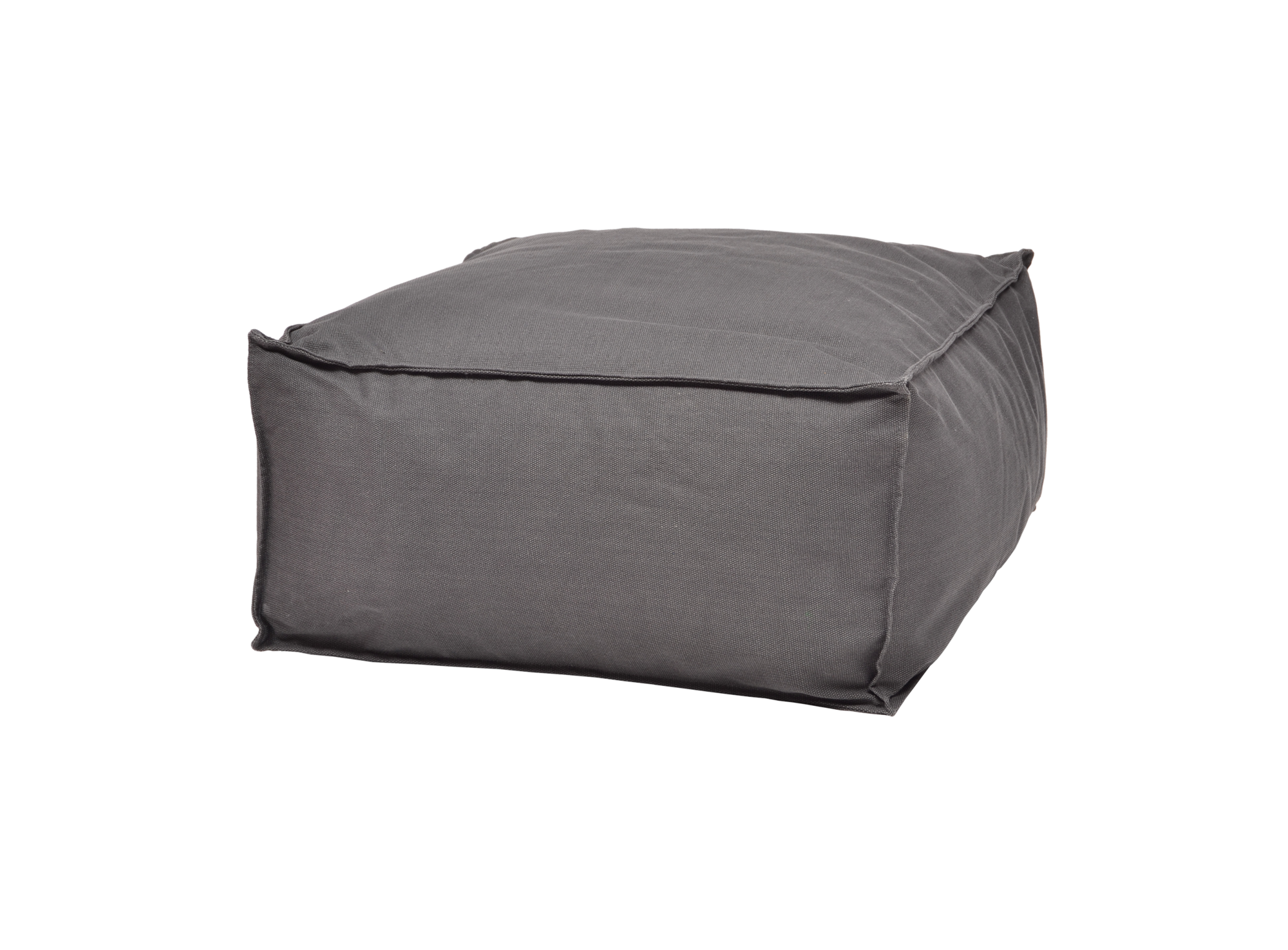 Pouf Rectangle Canvas D60 H30 Anthracite Fly Poufs