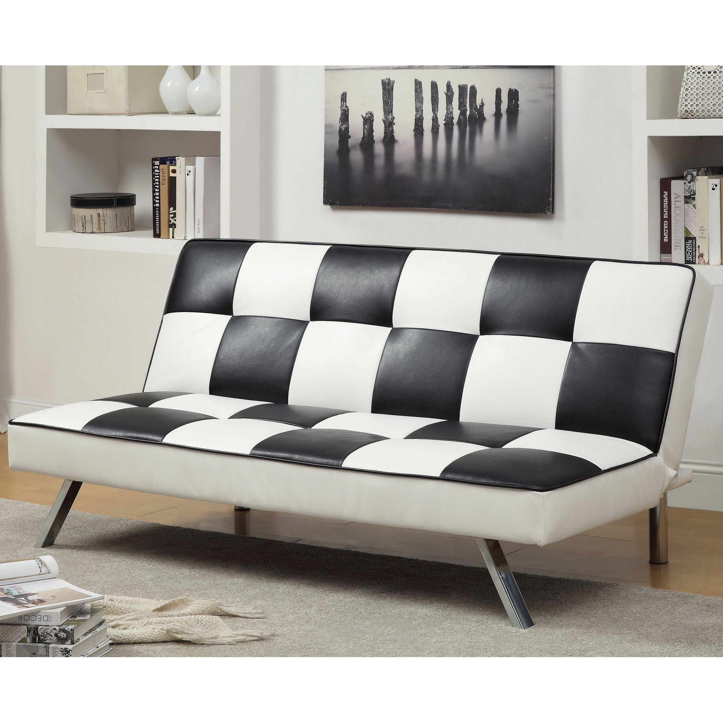 The Apis Modern Retro Futon Is A Chic Accent That Fits Right In With Your E This Highlights An Eye Catching Black And White