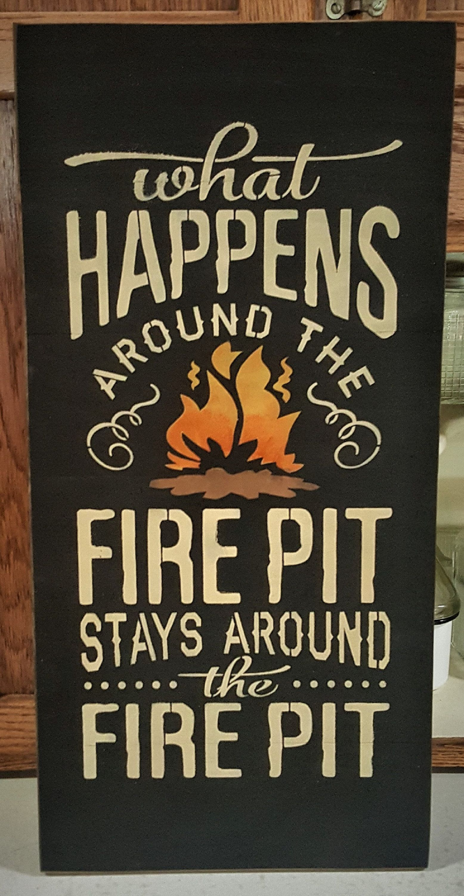What Happens Around The Fire Pit Sign Fire Pit Outdoor Sign Etsy In 2021 Outdoor Fire Pit Fire Pit Outdoor Signs