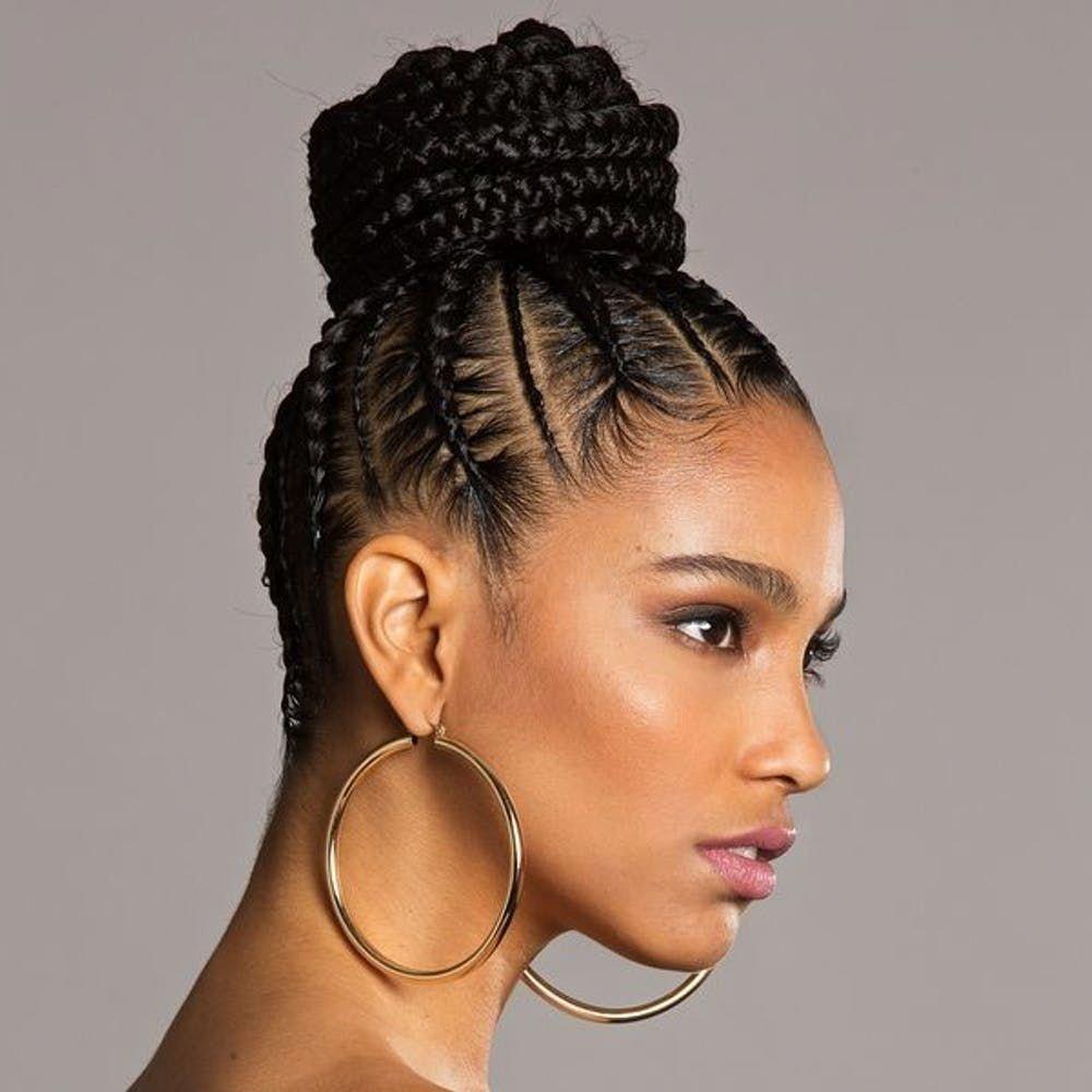 Updo Hairstyles Casual Bridesmaid Updohairstylesforblackwomen Natural Hair Styles Natural Hair Braids Braided Bun Hairstyles