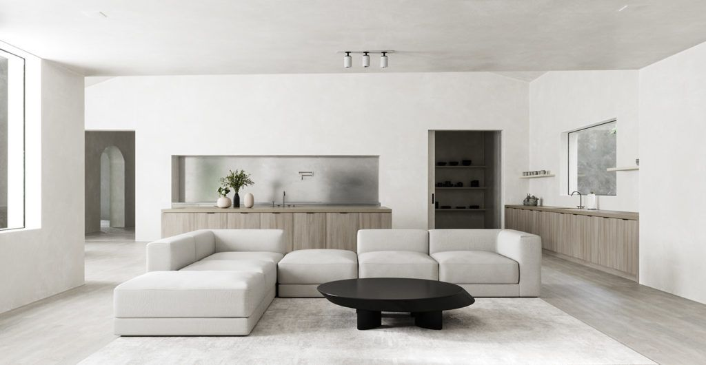 MINIMALIST MONASTERY | Minimalist living room design ...