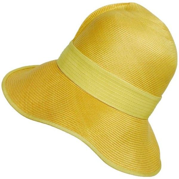 Pale Gold Yellow Cloche Hat