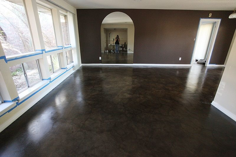 Soycrete Concrete Stain With The Ecotuff High Traffic
