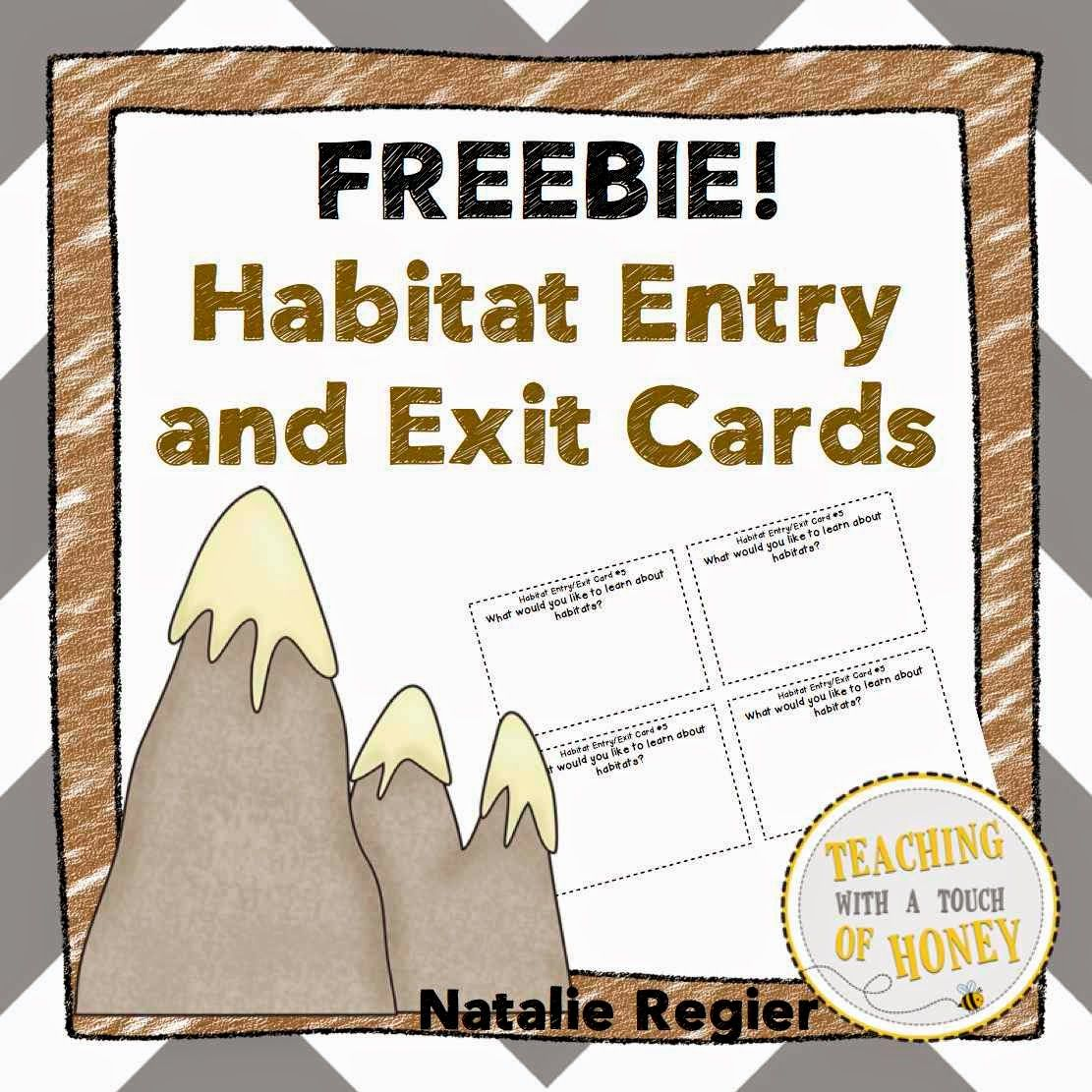 Habitat Entry And Exit Cards Freebie