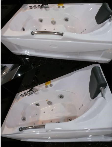 Jetted Whirlpool Hydrotherapy Bathtub Tub W Heat Radio