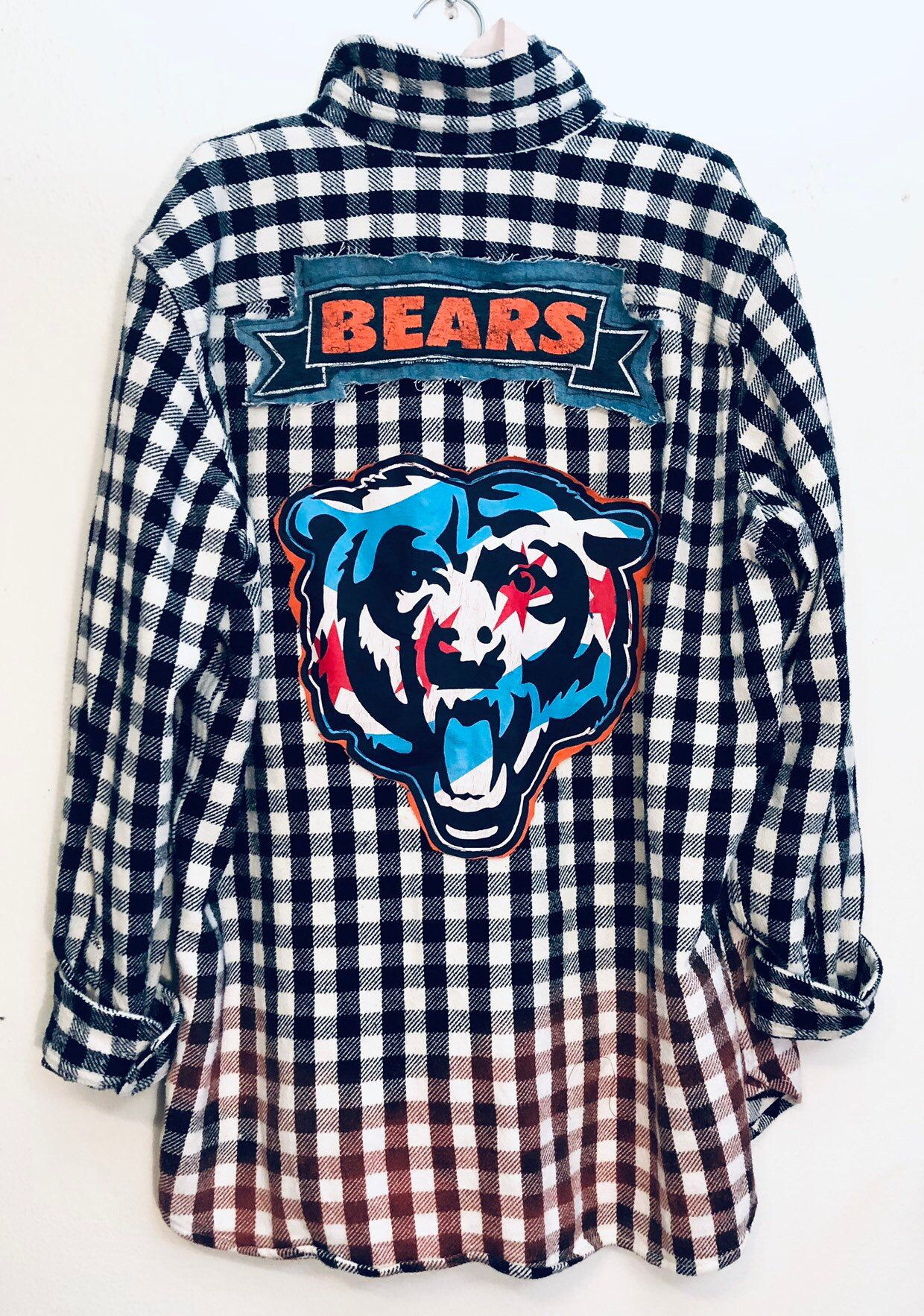 Super grunge retro chicago Bears grunge style Sports
