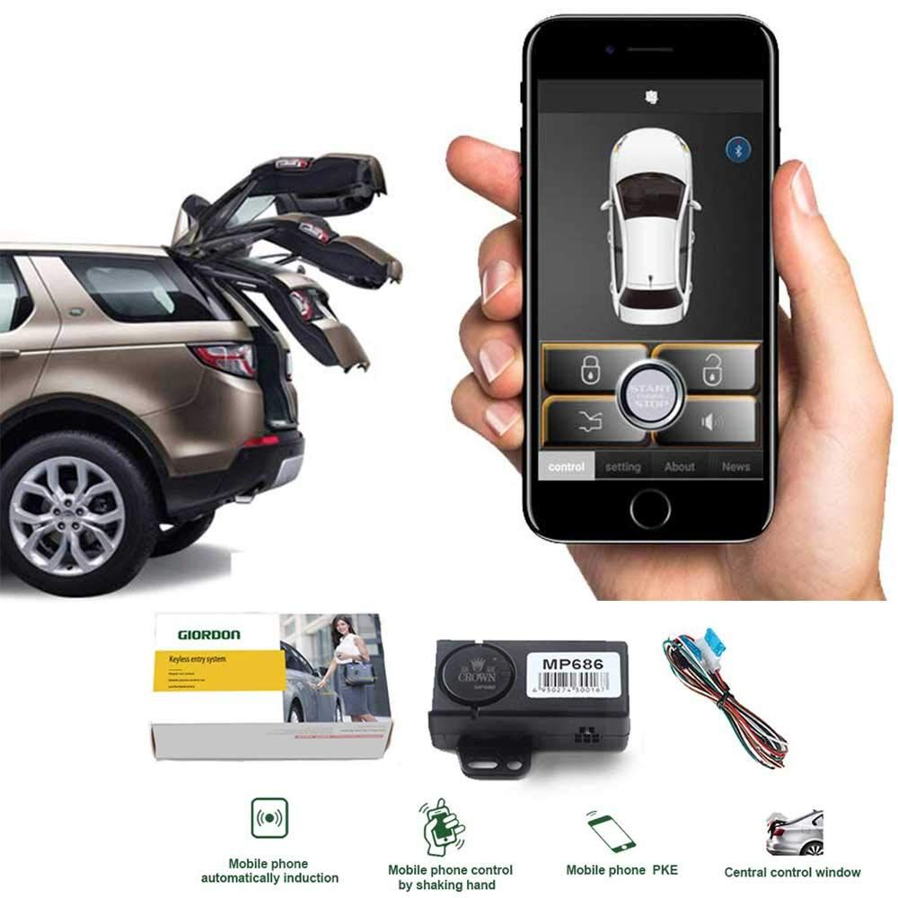 Auto Smartphone Remote Control Locking Kit Smart Key 2 Way Lgnition Trunk Control Unlock Shaking Hand Mobile Pho Keyless Entry Systems Smart Key Remote Control