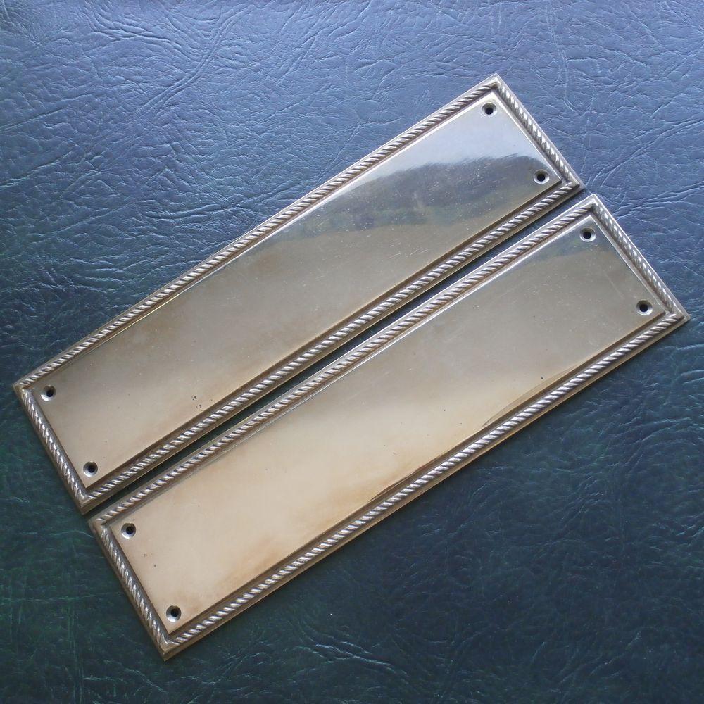 vintage brass finger plates door finger plates door push plates & vintage brass finger plates door finger plates door push plates ...