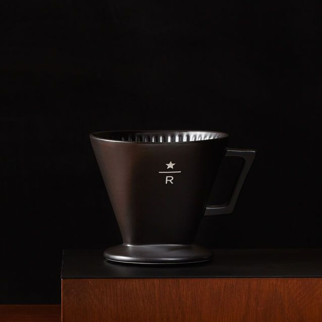 A Single Serve Manual Coffee Brewing System With A White