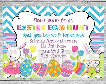 Egg Hunt Invitation Easter Egg Hunt Party Por Artisacreations