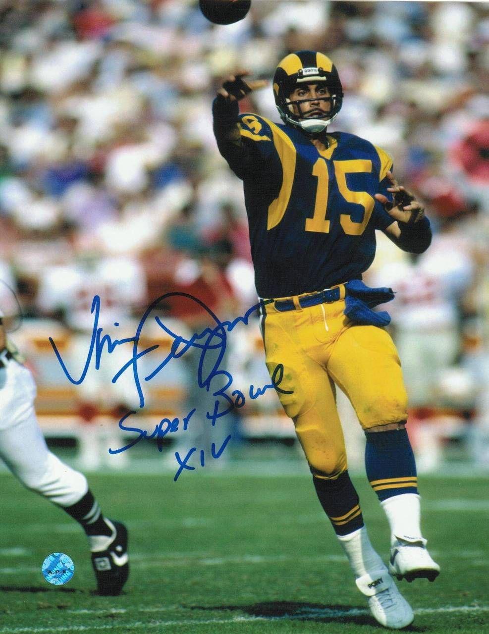 Vince Ferragamo Los Angeles Rams Autographed 8x10 Photo