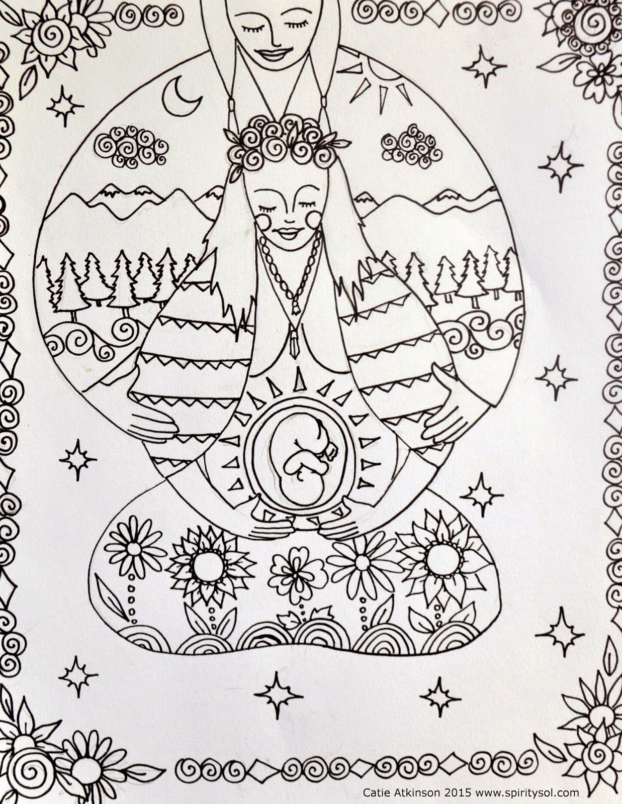 Spirit & Sol: FREE COLORING PAGES | Babiessss | Pinterest | Birth ...