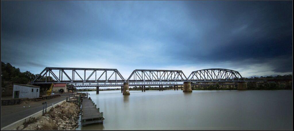 Murray River Bridge.  Murray Bridge,  South Australia
