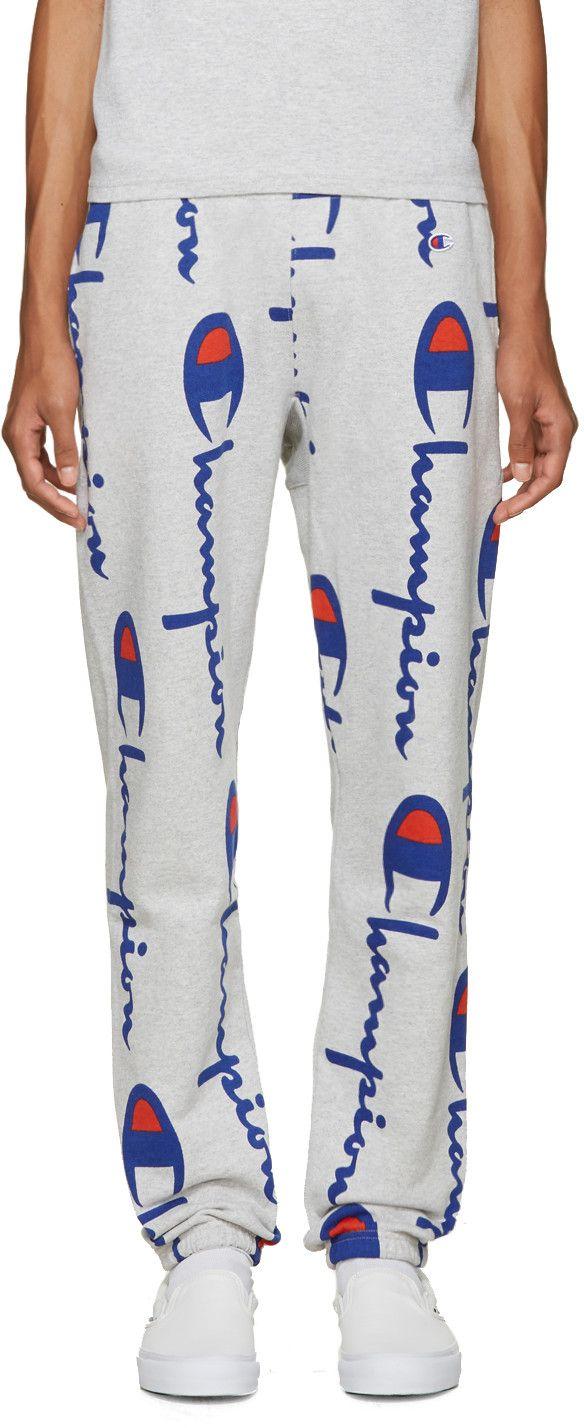 b962a82fb441 Champion Reverse Weave - Grey Logo Lounge Pants