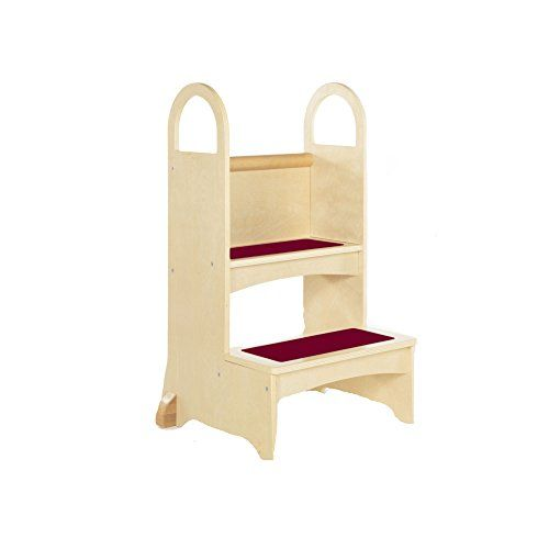 Guidecraft High Rise Step Up Natural Step Stool For To