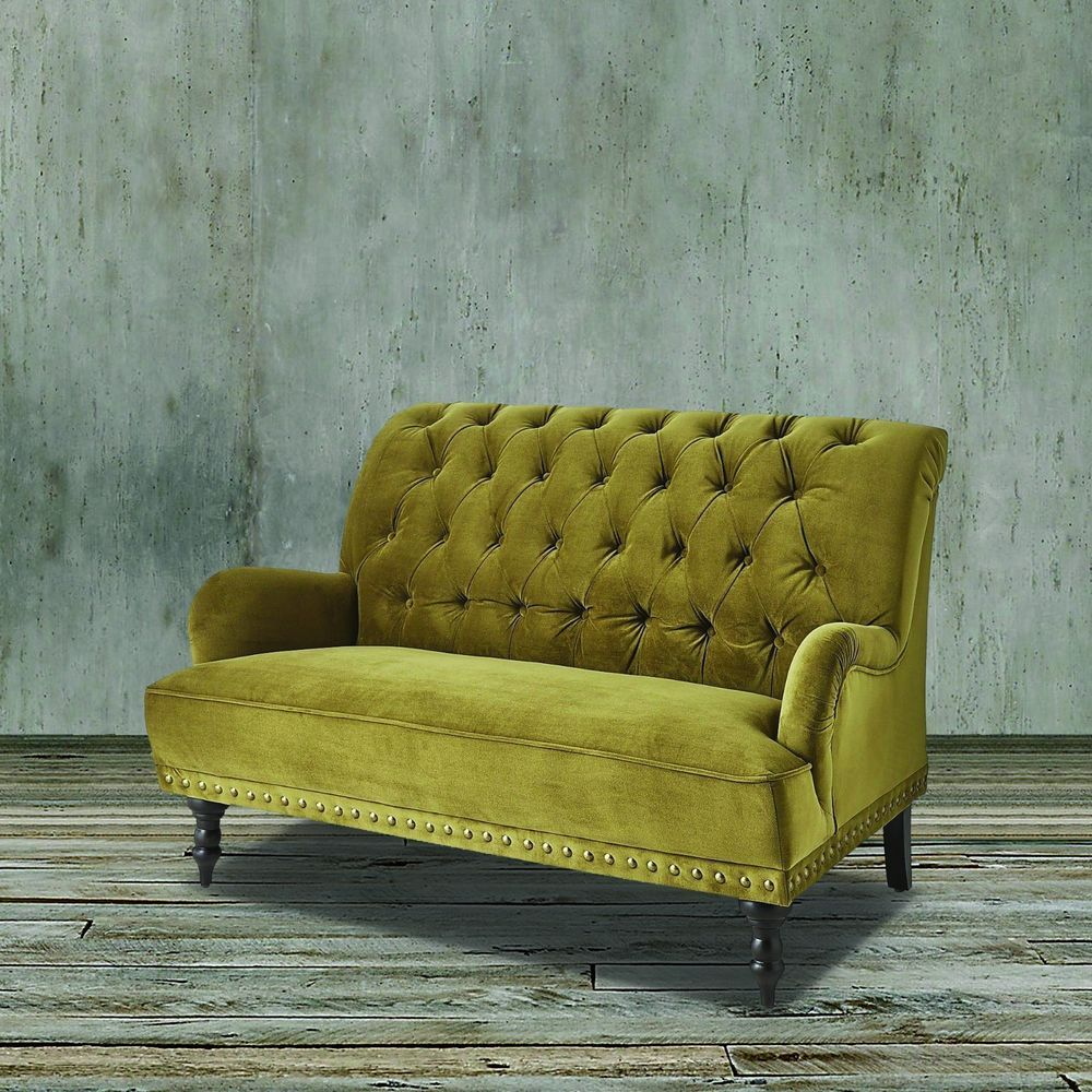 mint loveseat tufted sale sofa luxury chesterfield couches green regency velvet at