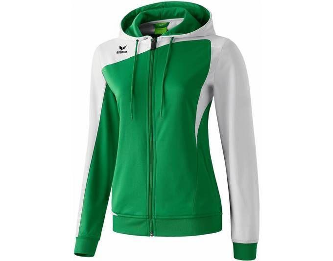 Erima Club 1900 Trainingsjacke mit Kapuze smaragdweiß