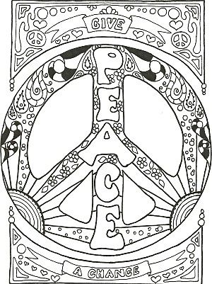 Peace Symbol Coloring Pages | My PEACE SIGN art Coloring Books are ...
