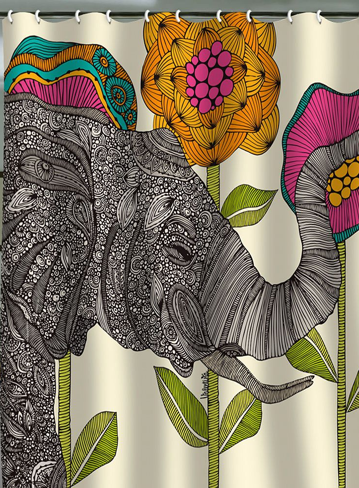 Deny Designs Fabric Shower Curtain Guys I Just Want To Show You How Much I Love Elephants Elephant Shower Curtains Elephant Shower Sweet Home