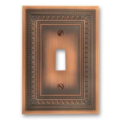 Amerelle Copper 1 Gang Toggle Wall Plate 83tac The Home Depot Plates On Wall Antique Copper Antiques
