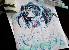 Chibi Ghostbride Morgana by Lighane