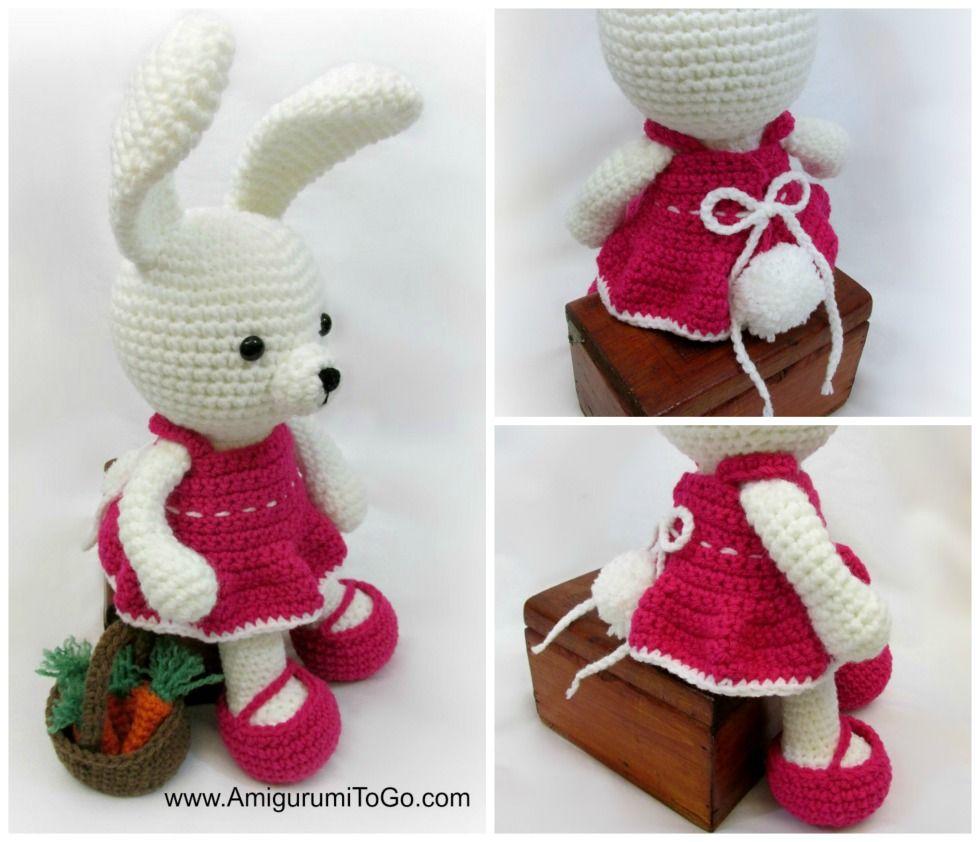 Dress for dress me bunny | Crochet | Pinterest | Conejo, Patrones ...