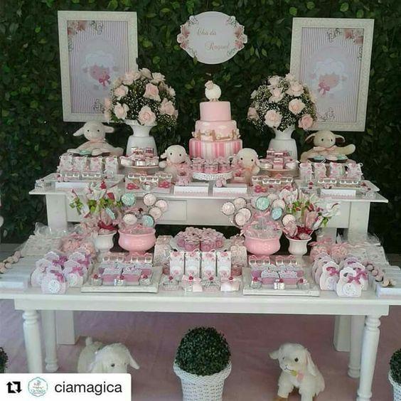 Mesa De Dulces Para Bautizo Niña Baby Shower Niña Butterfly Wedding Theme Dessert Table
