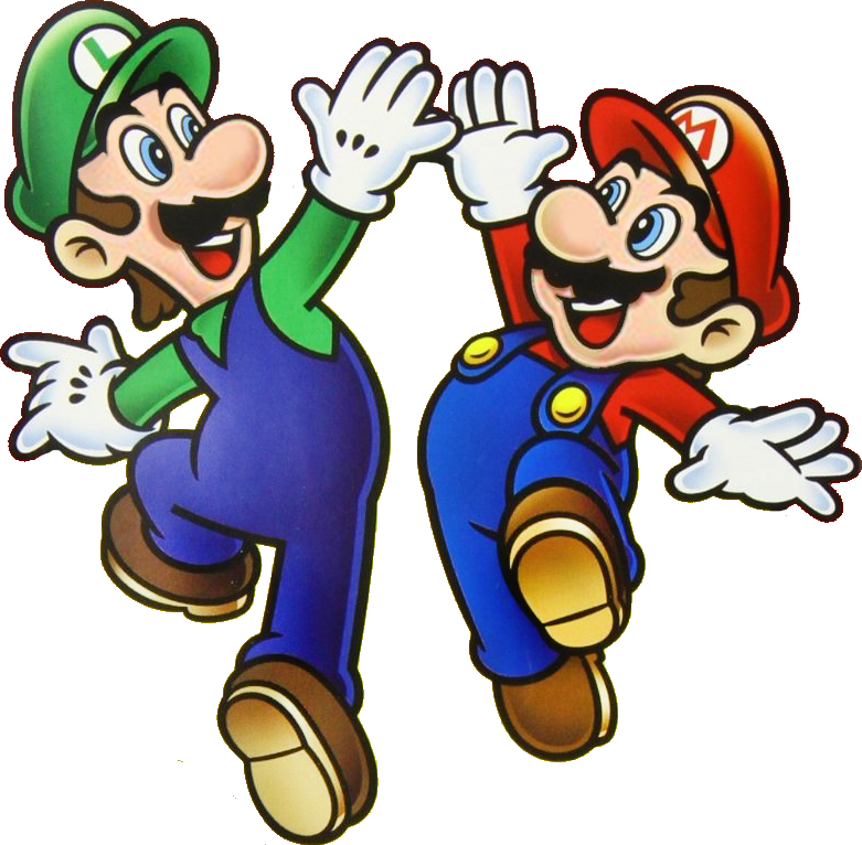 File Mlhighfive Png Super Mario Bros Mario And Luigi Super Mario Brothers