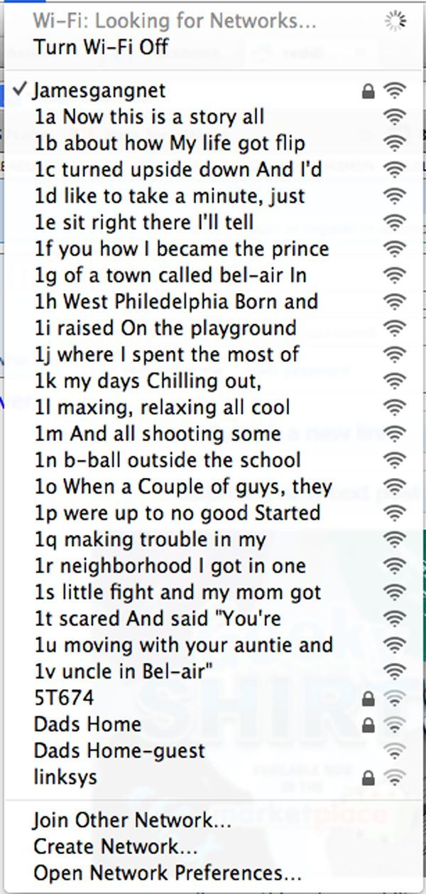 Fresh Prince Of Bel Air Apartment Building Wifi Names