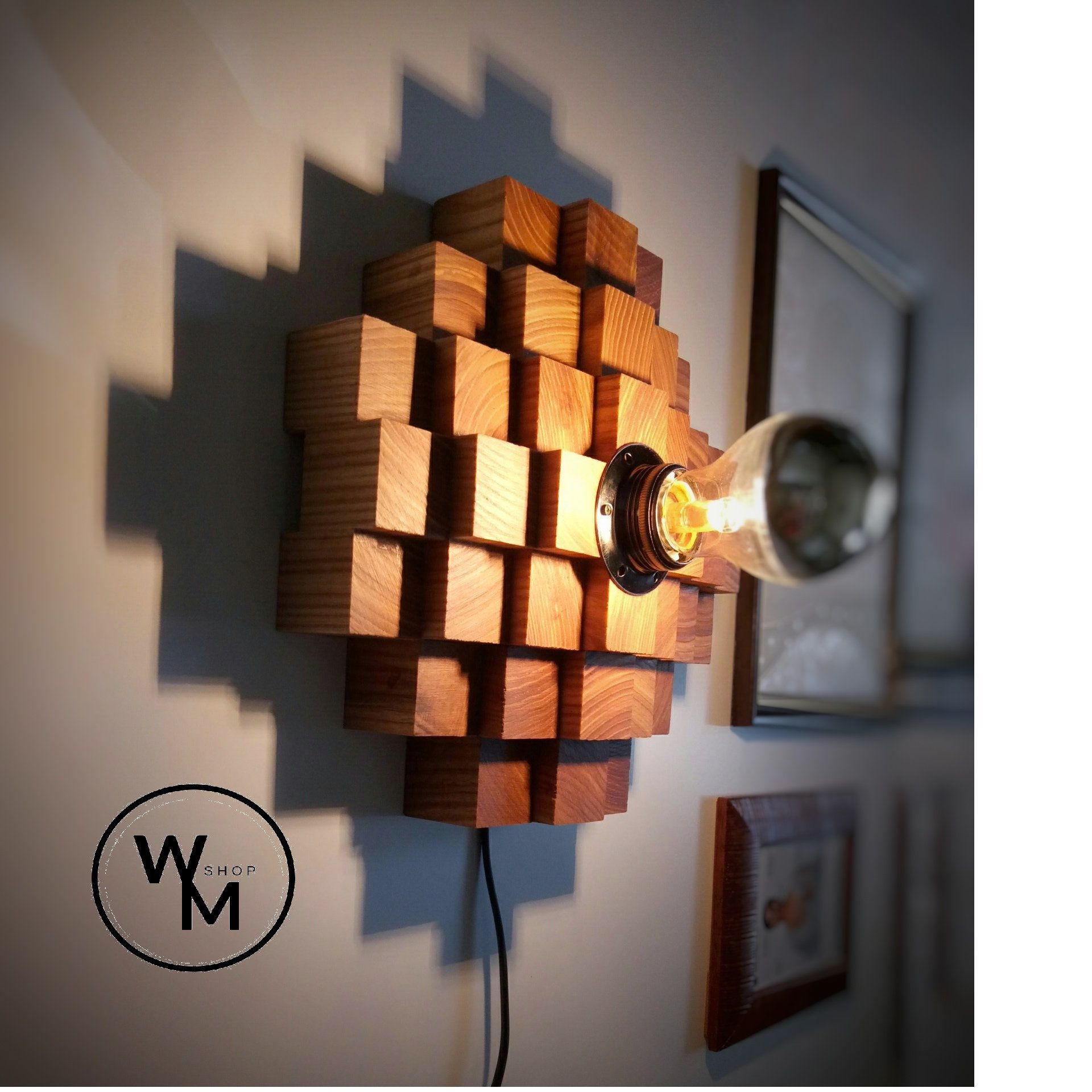 Minimalist Night Light Modern Sconce Wooden Wall Light Plug In Wall Sconce Accent Lamp Modern Wood Lamp Hanging Wall Light Wood Art Creatividad Disenos Creativos Y Disenos De Unas