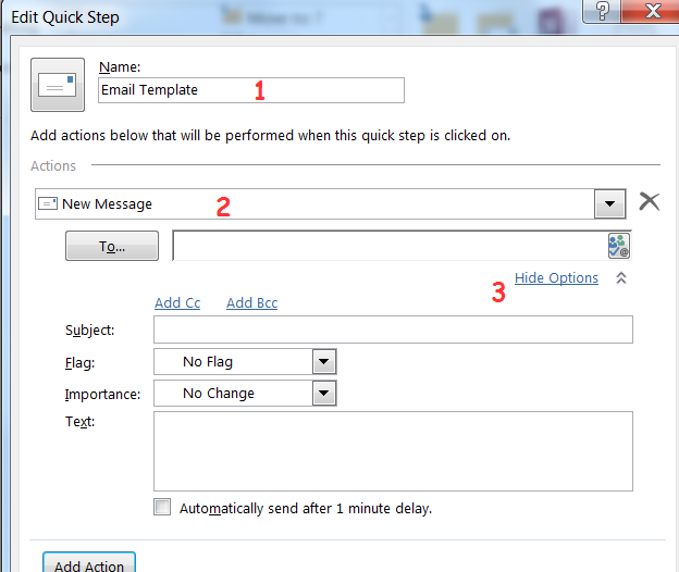 the fastest way to create email templates in outlook 2010