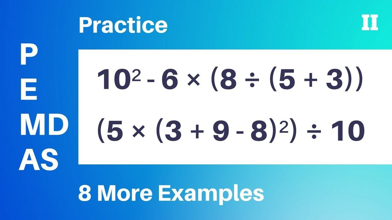 Practice Order Of Operations Part Ii 5 Steps Positive Numbers